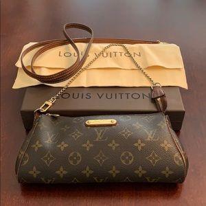 Louis Vuitton monogram Eva clutch with strap